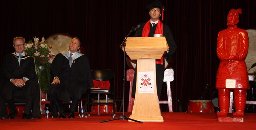 Jack Kim at Dulwich College graduation