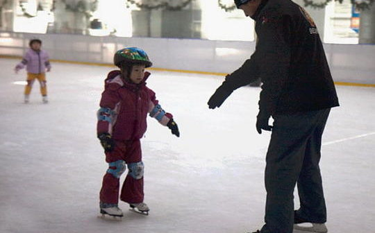 ice skating with kids