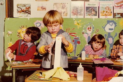 Kid art in class