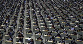 chinese students taking exam