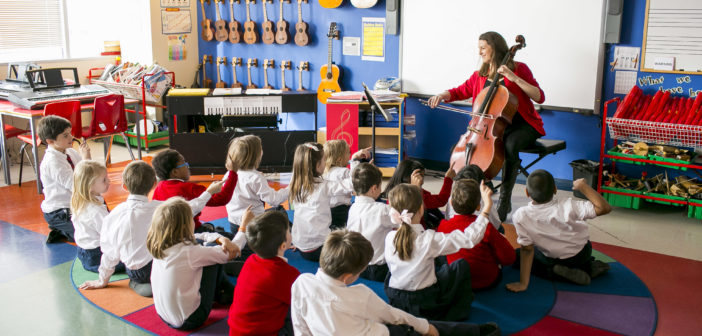 3/24/15 9:14:16 AM -- Chicago, IL, USA Juilliard Visit to the British School of Chicago Juilliard Graduate Claire Bryant working as a teaching artist. Nord Anglia . © Todd Rosenberg Photography 2015