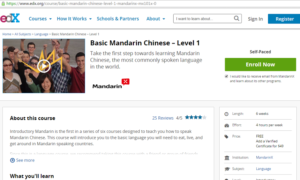 Basic Mandarin Chinese Level 1