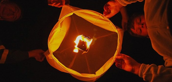 Releasing a lantern