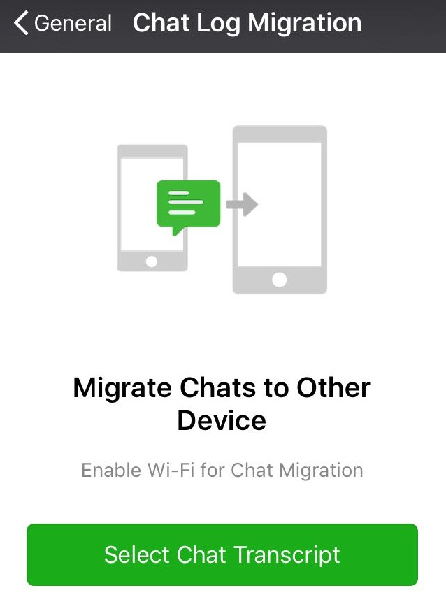 WeChat migration