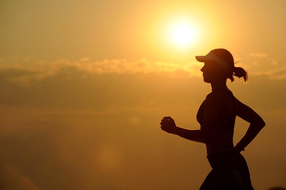 running-at sunset