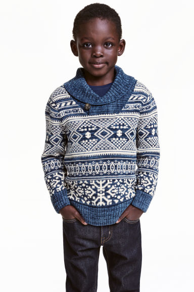H&M KIDS boys shawl collar jumper jumper