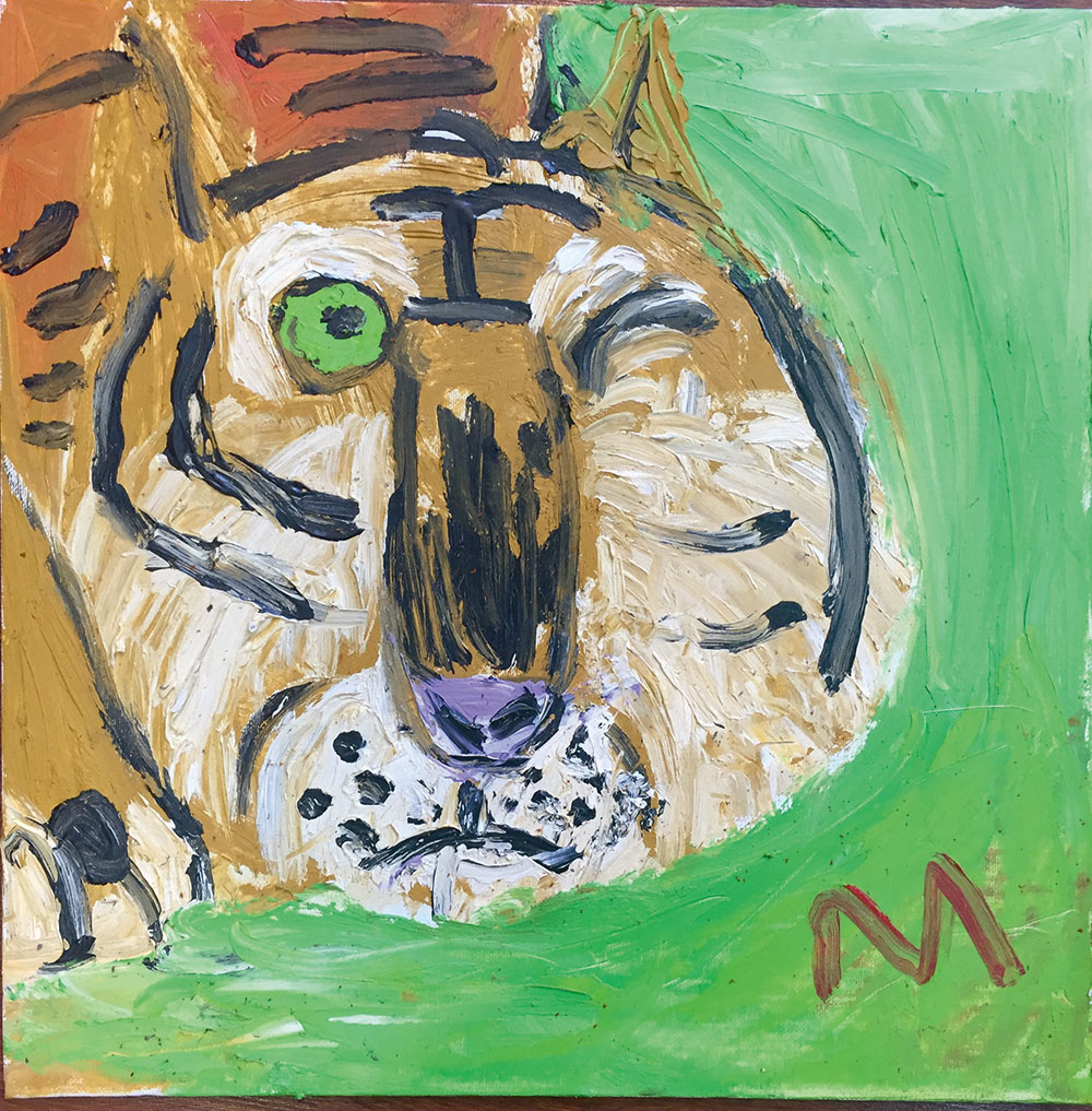 "Yaoku - China: ""My painting is of a tiger."""