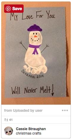12 Diy Christmas Cards Using Baby Footprints Beijingkids Online