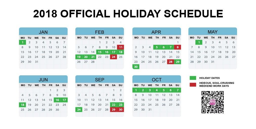 China S Official 2018 Holiday Calendar Announced Earlier