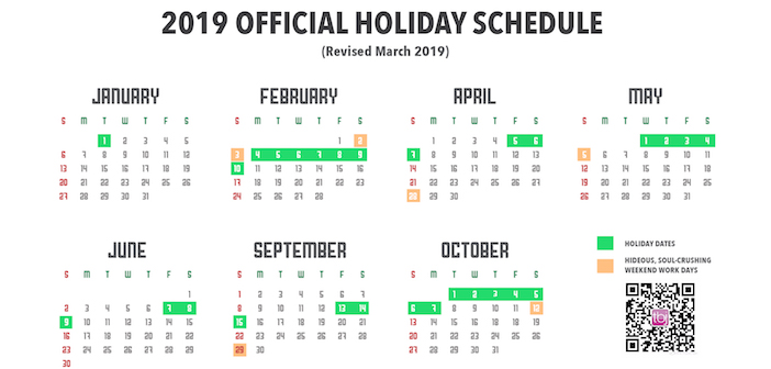 May Calendar.Adjust Your Calendar As Government Switches May Day Holiday Dates