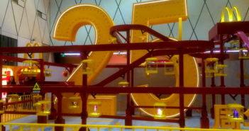 Mcdonalds exhibit at TaiKooLi celebrating 25 years