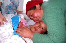 Mother helped her daughter through labor and delivery in issyk k