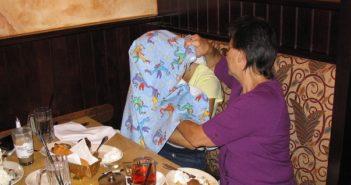 Nursing under cover