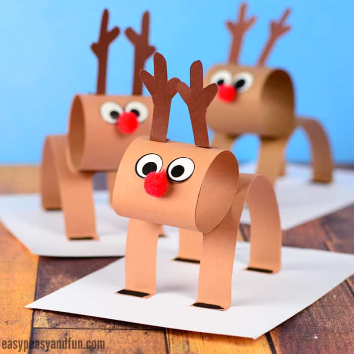 3d construction paper reindeer maker s corner deck your home with these last minute 3294